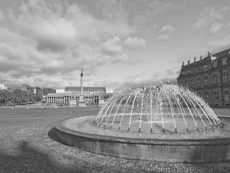 stuttgart: The Schlossplatz (Castle square) in Stuttgart, Germany Editorial