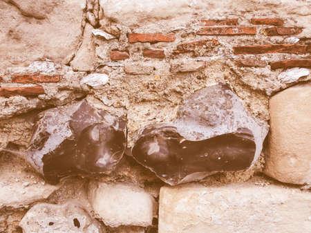 flint: Vintage looking Old wall made of flint stones from Kent UK