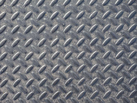 treadplate: Grey steel diamond plate useful as a background Stock Photo