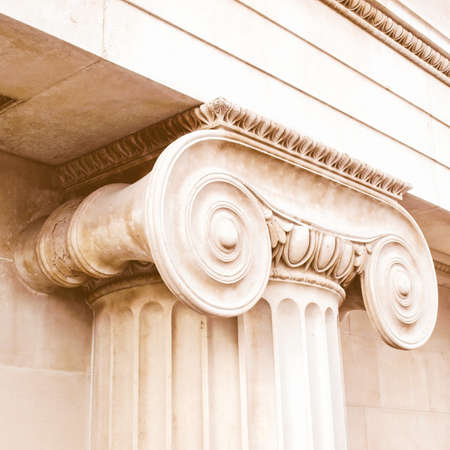 floreal: Detail of a Greek Ionic column capital vintage