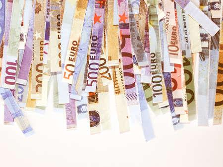paper shredder: Money to burn - banknotes cut with a paper shredder vintage