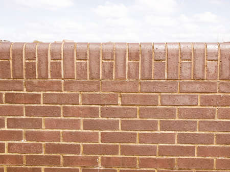 Hintergrund: Vintage looking Red brick wall useful as a background