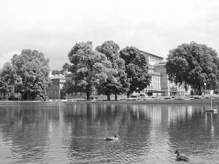 stuttgart: The Oberer Schlossgarten park in Stuttgart, Germany Stock Photo
