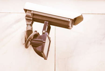 closed circuit: CCTV closed circuit tv surveillance camera vintage Stock Photo