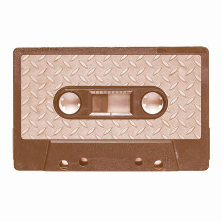stereo cut: Magnetic tape cassette for audio music recording - Metal music vintage