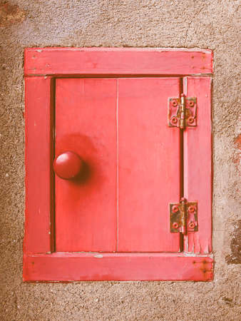 Receiving: Red letter box mailbox for receiving incoming mail vintage Stock Photo