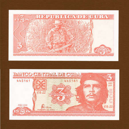 pesos: Vintage 3 Pesos unconvertible money from Cuba vintage