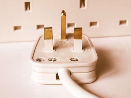 mains: UK mains power plug for British sockets BS1363 vintage