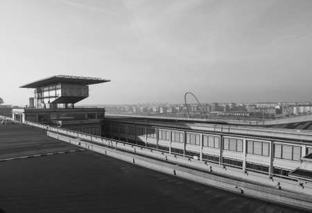 fiat: TURIN, ITALY - DECEMBER 16, 2015: Roof top race track at Lingotto former Fiat car factory Editorial