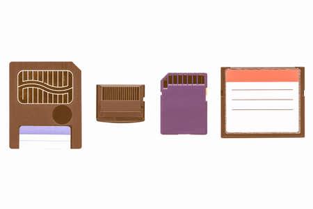 digital memory: Different types of digital memory cards for cameras vintage