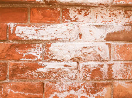 caused: Damage caused by damp and moisture on a brick wall vintage
