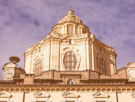 lorenzo: Vintage looking The church of San Lorenzo Turin Italy