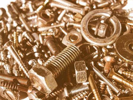 equipos: Industriales de acero de hardware pernos, tuercas, tornillos vendimia
