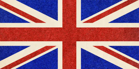 europe flag: The national flag of the United Kingdom UK aka Union Jack, with paper texture