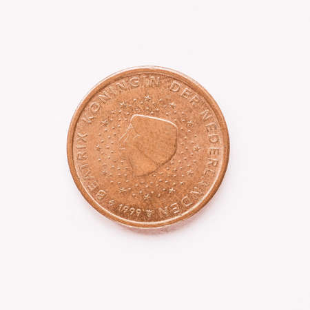 nederland: Currency of Europe 2 cent coin from Netherlands vintage