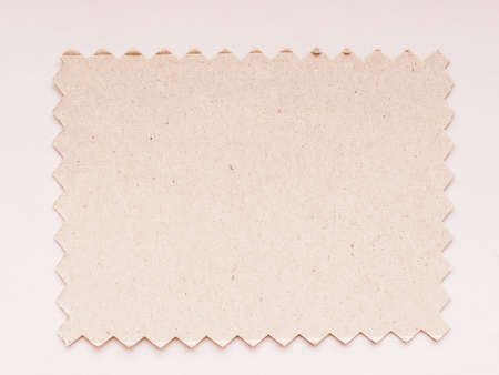 swatch: Paper swatch cut with pinking shears zig zag scissors vintage