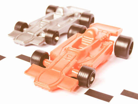 formula one racing: F1 Formula One racing toy model cars vintage Stock Photo