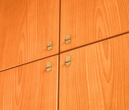 engineered: Detail of a wooden cabinet furniture background vintage