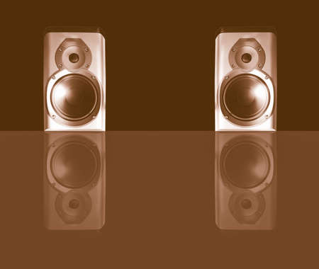 hifi: A picture of Pair of stereo hifi speakers vintage Stock Photo