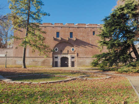 barracks: La Cittadella ancient military barracks now decommissioned and turned into Museo Nazionale Di Artiglieria meaning National Museum of Artillery in Turin, Italy