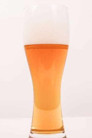 weiss: Vintage looking A glass of German weiss weizen beer Stock Photo
