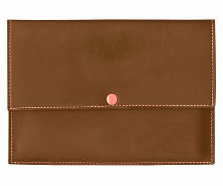 billfold: Purse bag or wallet billfold, black over white background vintage