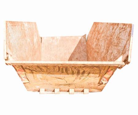 dumper: Dumper for construction and demolition material debris - isolated over white background vintage