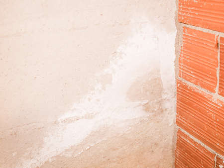 damp: Damage caused by damp and moisture on a wall vintage