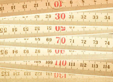 wooden metre: Carpenters ruler vintage