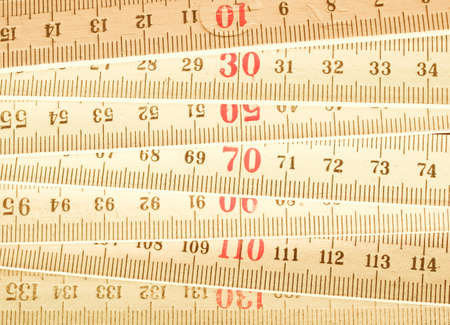 metre: Carpenters ruler vintage