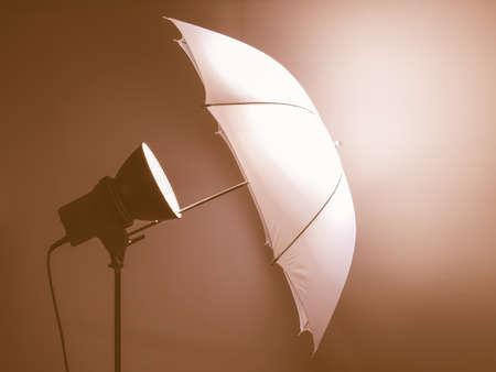 reflector: Light umbrella reflector used in photographic studio vintage