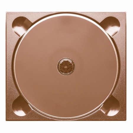 dvd case: Black CD or DVD in digipack slim case isolated over white vintage