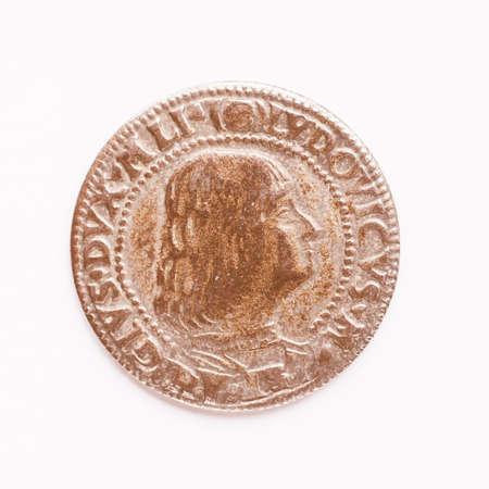 roman empire: Ancient Roman coin from the Roman Empire vintage Stock Photo