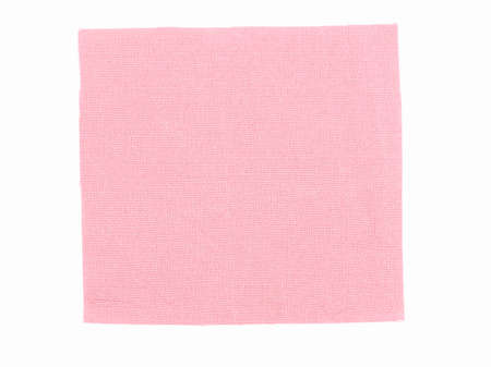 fashion clothing: Pink fabric swatch over white background vintage