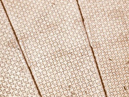 Vintage looking Diamond steel metal sheet useful as background