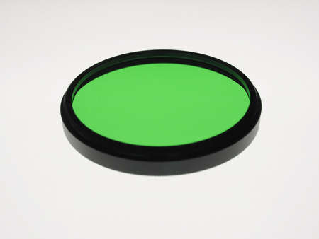 coating: Black and White Colour filters for film and digital camera - green glass coating