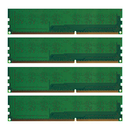 modules: RAM Random Access Memory modules for PC personal computer isolated over white