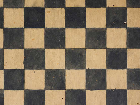 draughts: Vintage wooden game board for playing Draughts or Checkers Stock Photo
