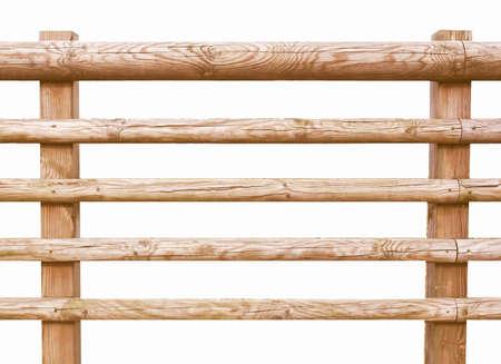 Clôture en bois isolé sur blanc cru Banque d'images - 50859792