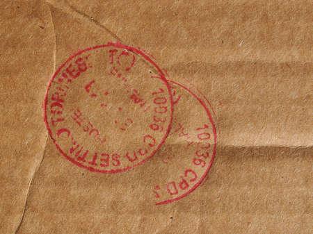 meter box: SETTIMO TORINESE, ITALY - CIRCA JANUARY 2016: Postage meter of Poste Italiane meaning Italian Mail