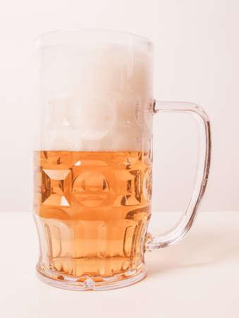 pilsner glass: A large glass of German lager beer vintage Stock Photo