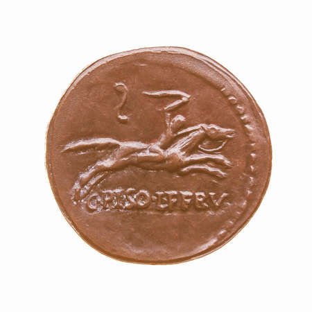 greek currency: coin isolated over a white background vintage