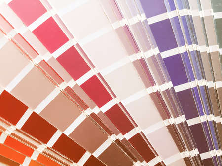 hues: Colour chart with different hues of paint vintage