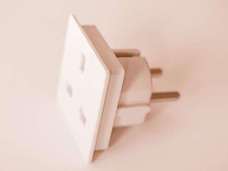 fused: BS 1363 Standard British power Plug Socket vintage