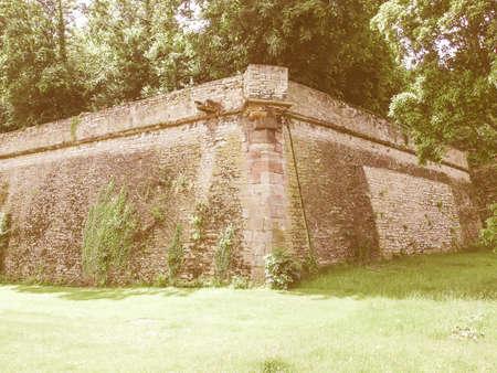 mainz: Mainz Zitadelle citadel of Mainz in Germany vintage