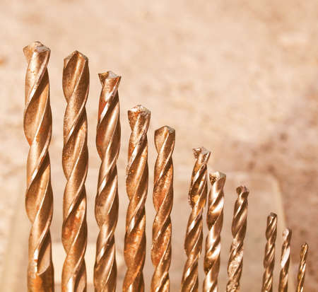 driller: Range of drill bits of various diameters vintage