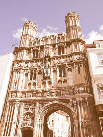 canterbury: St Augustine Gate in Canterbury England UK vintage Stock Photo