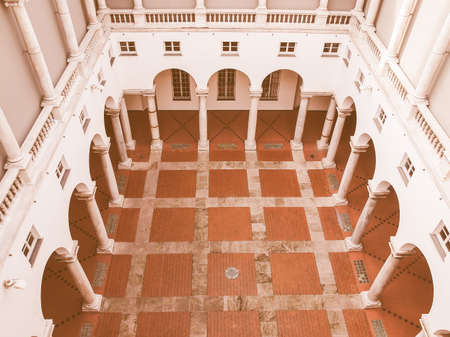 ducale: Palazzo Ducale Doge Palace in Genoa Italy vintage Stock Photo