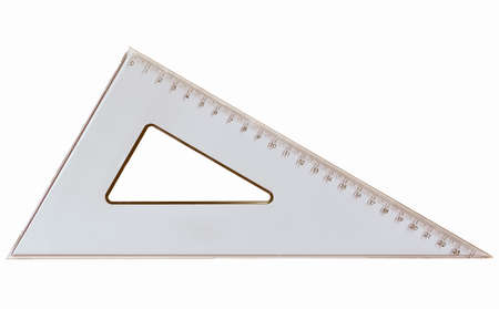 set square: Set square triangle used in engineering and technical drawing vintage
