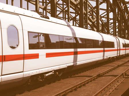 railtrack: Detail of an high speed train vintage
